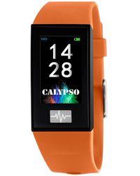 Calypso St. Barth Montre Montre connectée Smartwatch Orange/noire