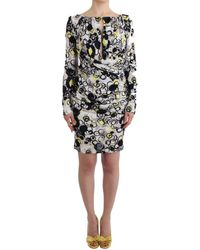 Gianfranco Ferré Multicolour Longsleeved Shift Dress Dress - Black