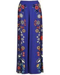 Desigual Pantalón fluido CHIPRE - Azul
