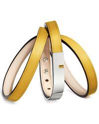 Ursul - Bracelet U-turn Triple Ii Yellow / Silver Woman Autumn/winter C Women's Bracelet In Yellow - Lyst