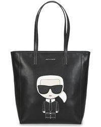 Karl Lagerfeld Handtas K/ikonik Soft Tote - Zwart