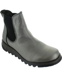 Fly London - Salv Women's Low Ankle Boots In Silver - Lyst