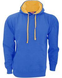Fleur du Mal Sweat-shirt Contrast - Bleu