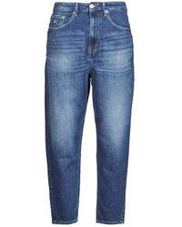 Tommy Hilfiger Jeans MOM JEAN ULTRA HR TPRD AMBC - Azul