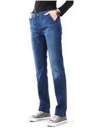 Wrangler Jeans Slouchy Cosy Blue W27CGM82G - Azul