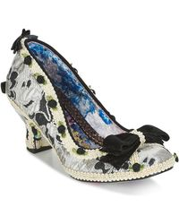 Irregular Choice BISH BASH BOW femmes Chaussures escarpins en Argenté - Métallisé