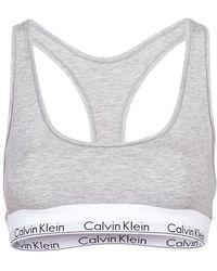 Calvin Klein Sujetador MODERN COTTON UNLINED BRALETTE - Gris