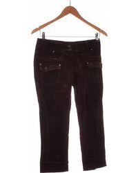Promod Pantacourt Femme 34 - T0 - Xs Pantalon - Marron