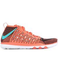 Nike Train Ultrafast Flyknit 843694-863 Baskets - Orange