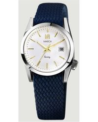 March LA.B Seventy One Watch 51681 Navy Blue Men's Watch In Blue