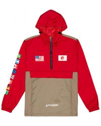 Huf Windjack Jacket Flags Anorak - Rood