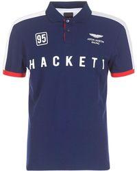 Hackett - Samlog Men's Polo Shirt In Blue - Lyst