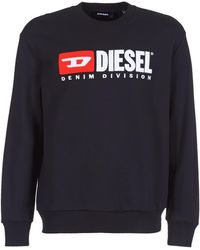 DIESEL Sweater Met Logo - Zwart