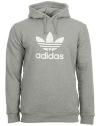 adidas Sweater Trefoil Warm U Hoodie - Grijs