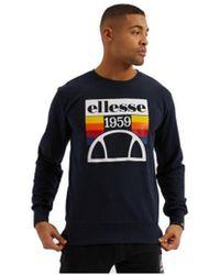 Ellesse - Sweat-shirt Sweat homme TUCCI SHE08532 bleu navy - Lyst
