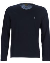 Polo Ralph Lauren T-shirt Lange Mouw L/s Crew-crew-sleep Top - Zwart