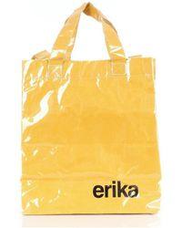Erika Cavallini Semi Couture P9PP9PW20 Bolsas de cubo Mujer mostaza - Amarillo