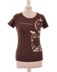 Pennyblack Top Manches Courtes 38 - T2 - M T-shirt - Marron