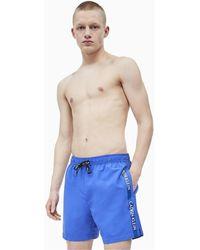 Calvin Klein Bañador KM0KM00379 MEDIUM DRAWSTRING - Azul