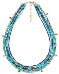 Hipanema Collier Collier Eleonore Turquoise - Bleu
