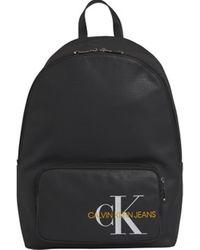 Calvin Klein Rucksack K50K505235 COATED COTTON CAMPUS - Schwarz