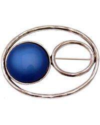 Lili La Pie Ref 12596 BH 01 Broches - Bleu