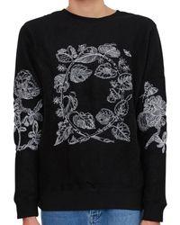 Soulland Damian Merino Wool Embroidered Jumper Black Men's Jumper In Black