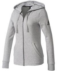 adidas Essentials Solid Full Zip Hoodie W Sweat-shirt - Gris