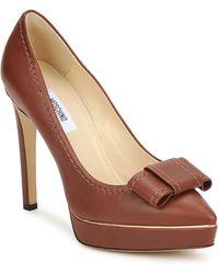 Moschino MA1009 femmes Chaussures escarpins en Marron