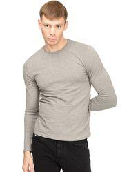 Gas T-shirt Lange Mouw 300187 - Grijs