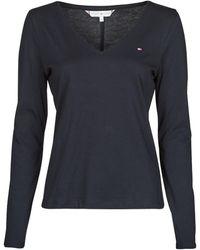 Tommy Hilfiger REGULAR CLASSIC V-NK TOP LS T-shirt - Bleu