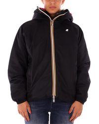 K-Way Abrigo MARIE NYLON GRAPHIC FUR chaquetas mujer negro