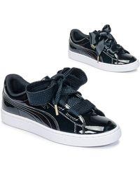PUMA Lage Sneakers Basket Heart Patent Wn's - Zwart