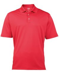 9a5bab33901 adidas - Golf Climalite Mens Pique Polo Shirt Men's Polo Shirt In Red - Lyst