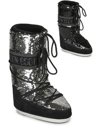 Moon Boot Snowboots Classic Disco - Zwart