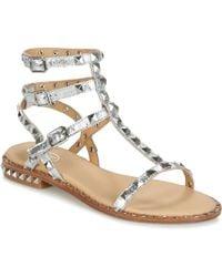 Ash - Poison Women's Sandals In Silver - Lyst