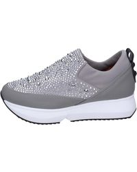 Alexander Smith Slip On Textile Strass Slip-ons (shoes) - Grey