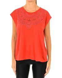 Desigual T-shirt T-shirt femme à manches courtes - Rouge