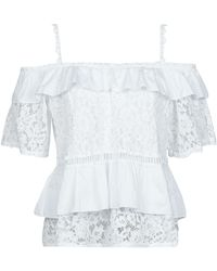 Guess SS NEW OLIMPIA TOP Blouses - Blanc