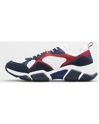 Tommy Hilfiger Chunky Material Mix - Azul
