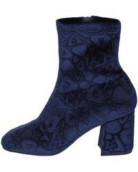 Apepazza Bottines bottines velours - Bleu