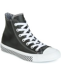 Converse Hoge Sneakers Chuck Taylor All Star Vltg Leather Hi - Zwart