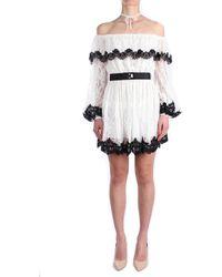 Anna Molinari 24204 Court Femme Naturel / noir Robe - Multicolore