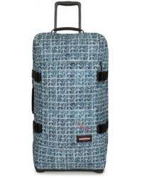 Eastpak Valise Sac à roues EK62L 59V Airmail Tranverz M motif bleu