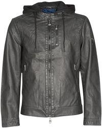 Guess Leren Jas Vintage Eco-leather Jkt - Zwart