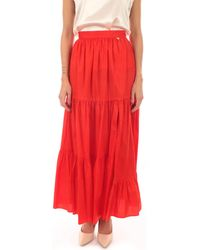 Twin Set GONNA 00047 Jupes - Rouge
