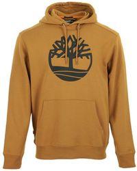 Timberland Sweatshirt Core Tree Logo Pull Over Hoodie - Braun