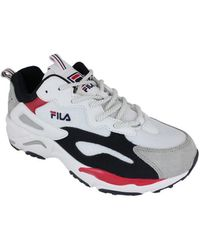 Fila Lage Sneakers Ray Tracer White/navy/red - Wit