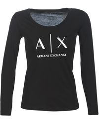 Armani Exchange 8NYTDG-YJ16Z-1200 femmes T-shirt en Noir