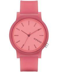 Komono Horloge Watch Mono Glow - Rood